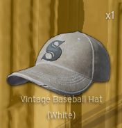 Vintage Baseball Hat[White]