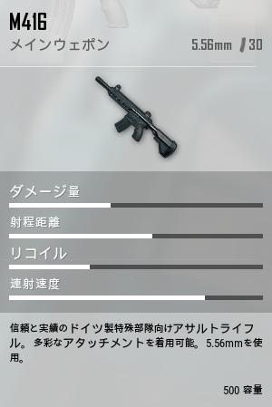 M416ゲーム内